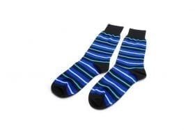 Socks-in-blue-stripes