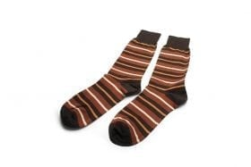 Socks-in-brown-stripes