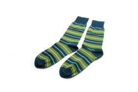 Socks-in-green-stripes