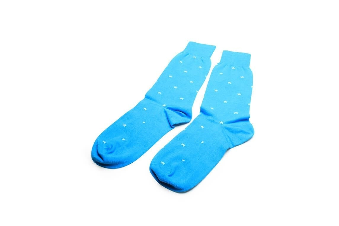 Socks-in-sky-blue-stars