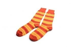 Socks-in-yellow-stripes