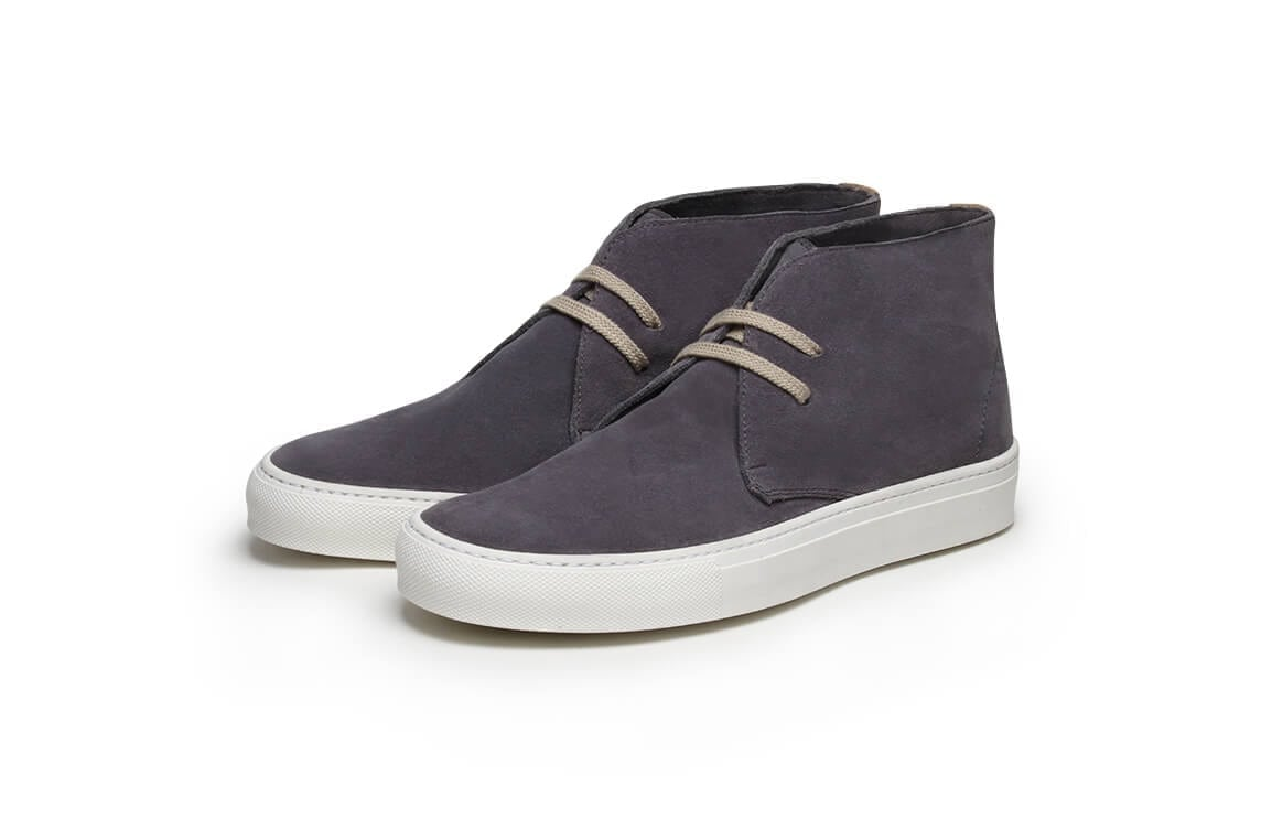 Tim Little handmade shoe Pine Top Boogie in Grigio Suede