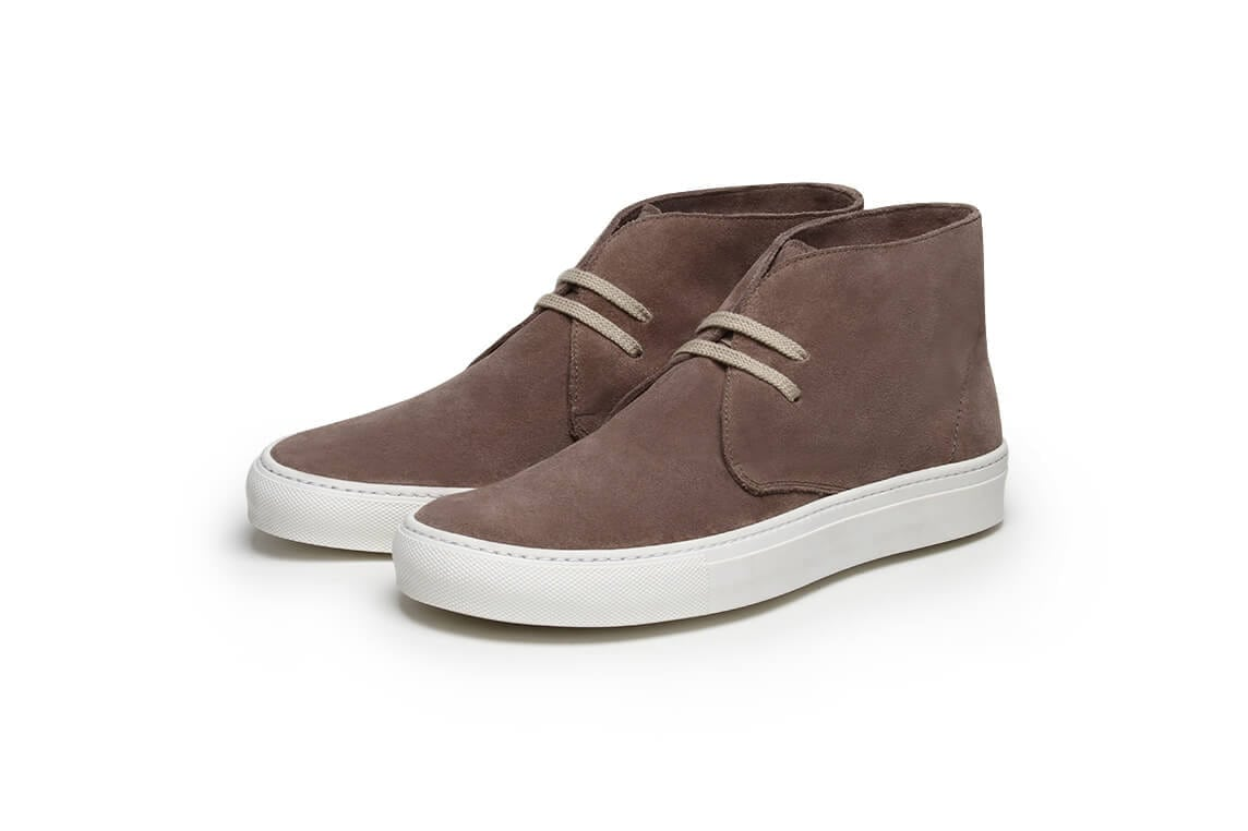 Tim Little handmade shoe Pine Top Boogie in Oyster Suede