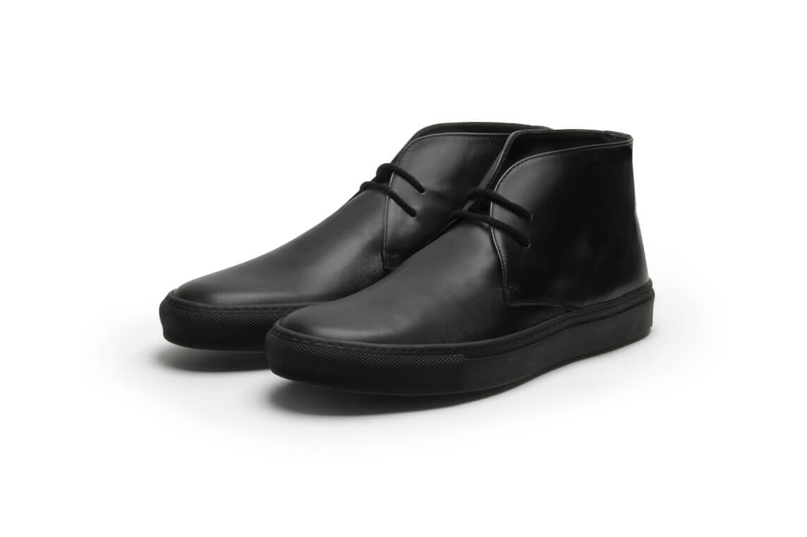 Pine Top Boogie all Black Calf Leather