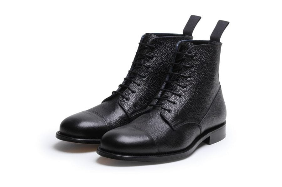 Highway 49 Black Pebble Grain Oxford Derby Boot