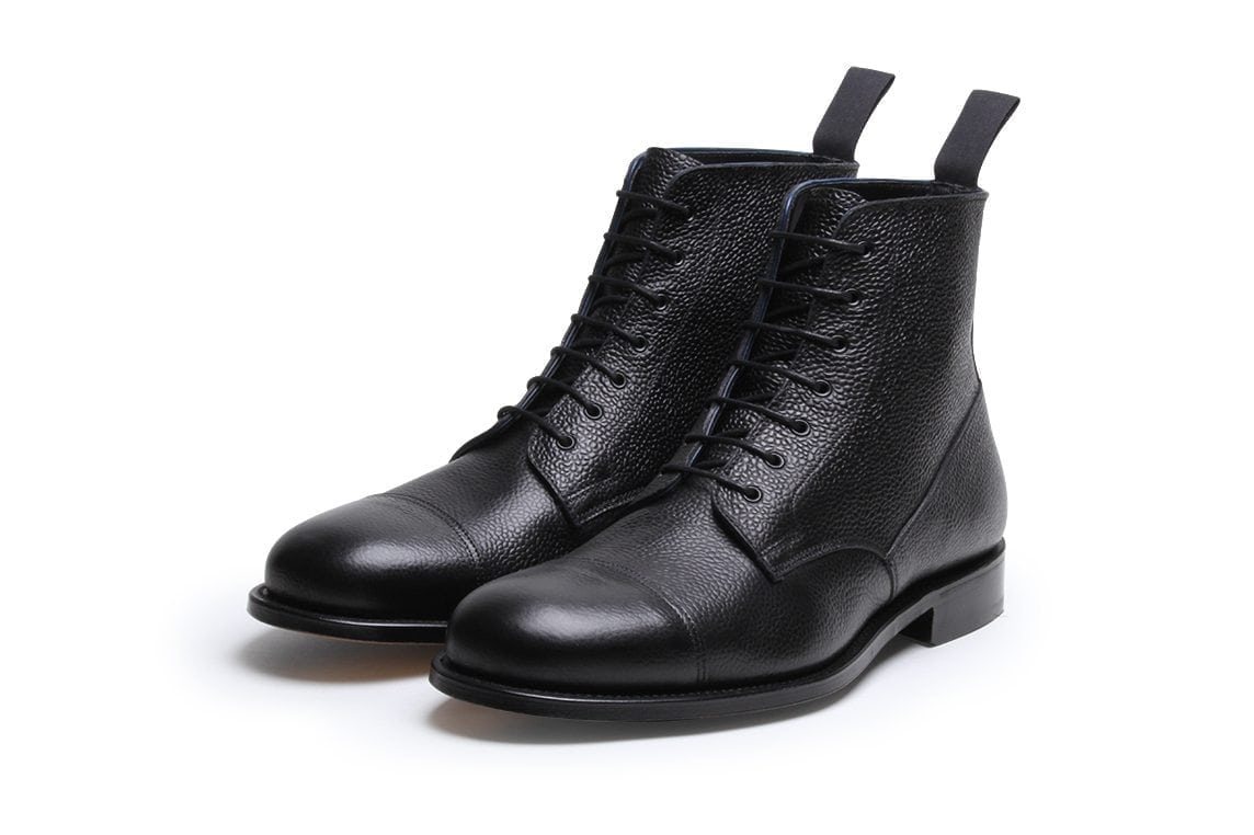 Highway 49 Black Pebble Grain Leather