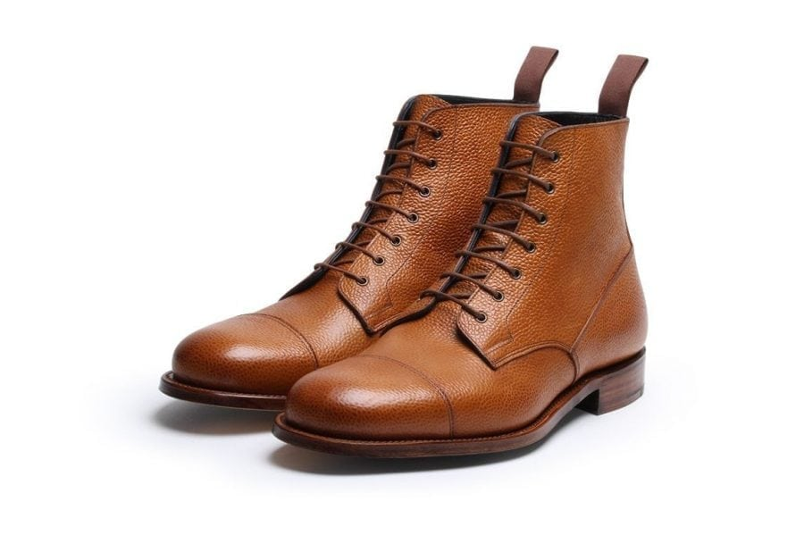 Highway 49 Tan Pebble Grain Oxford Derby Boot