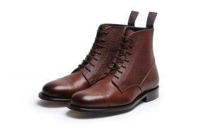 Highway 49 Brown Pebble Grain Oxford Derby Boot