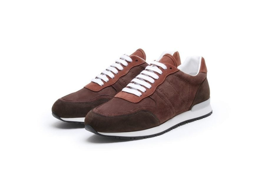 Key to the Highway Sneaker in Brown Rusty Nubuk