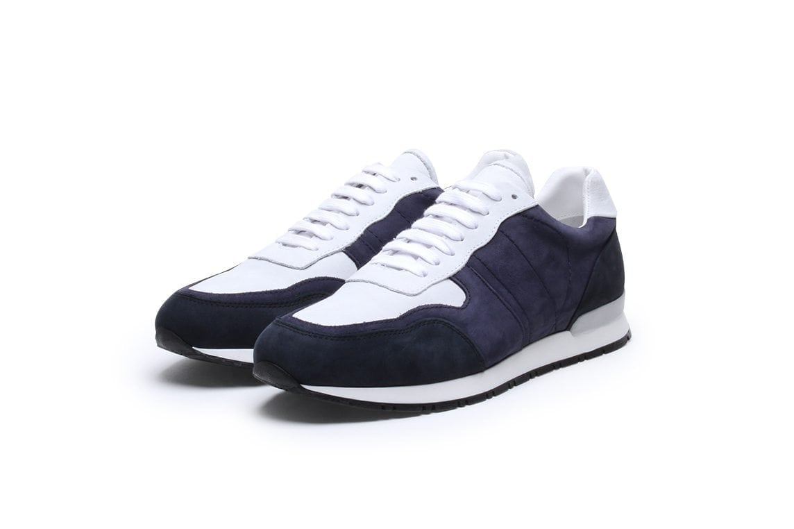 Key to the Highway Sneaker in Navy Ghost Nubuk