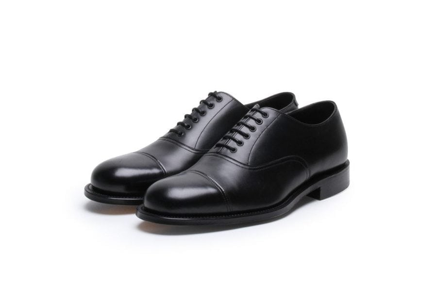 Stone Crazy Oxford in Black Calf Leather
